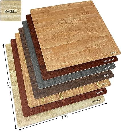 Sorbus Marble Floor Mats Foam Interlocking Marble Mats Each Tile 4 Square  Feet 3/8
