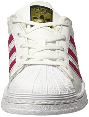 Amazon.com | adidas Originals Superstar C White/Bold Pink Leather 10.5 M US Little Kid | Shoes