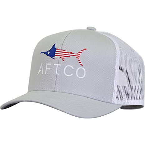 edc0d7862eca72 Amazon.com: AFTCO Meric Trucker Hat in Silver: Sports & Outdoors