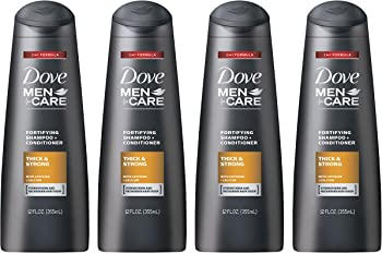 Dove Men Care 4 Pack of 12 oz. 2-in-1 Shampoo and Conditioner