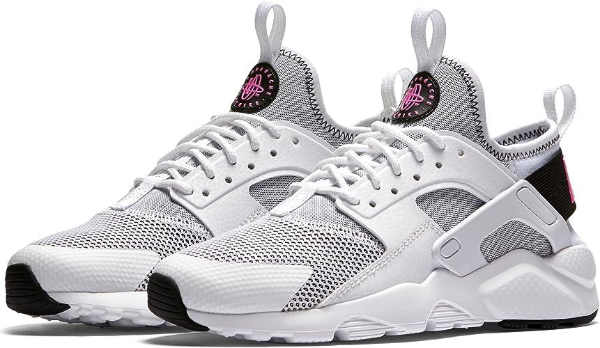 Nike Chaussures Femme AIR Huarache Run Ultra GS en Tissu Blanc 847568 100