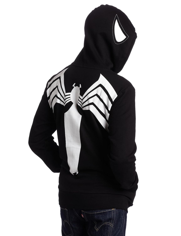 amazon com spiderman men u0027s black spiderman hoodie black x large