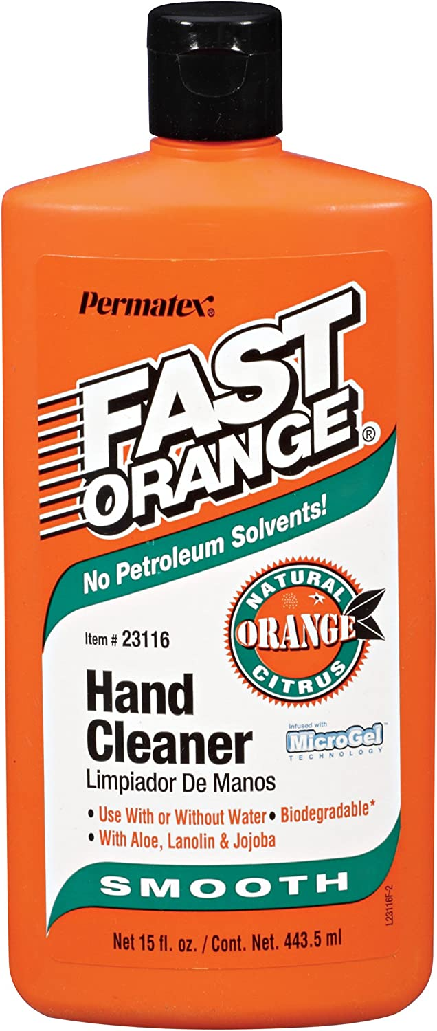 Permatex 23116 Fast Orange Smooth Lotion Hand Cleaner, 15 oz. Squeeze Bottle