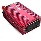 AUKEY カーインバーター 300W 車載充電器 シガーソケット ACコンセント DC12VをAC100V-110Vに変換 2.4A出力 2USBポート iPhone / Android 対応 PA-V17