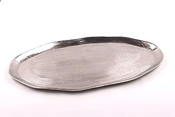 Stilvolles Metall Tablett U0026quot;Solerau0026quot;, Massive Ausführung  Serviertablett ...