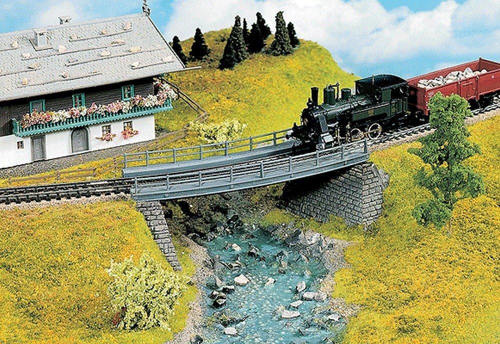 Noch 21350 STL Bridge Curved X 7'' L H0 Scale  Model Kit