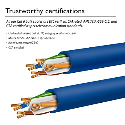 81Sxj9rNaxL._SX425_ amazon com gearit 1000 feet bulk cat6 ethernet cable cat 6e Tia-568-C.2 Cat 6 at reclaimingppi.co