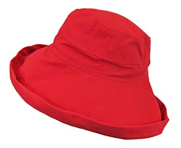 8190aee04b0 Image Unavailable. Image not available for. Color  Women s 100% Cotton Sun  Block Ultraviolet Protection Wide Big Brim Hat Cap Bucket UPF 50