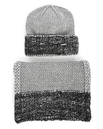 DIESEL - Beanies - Men - Kandy-Kit Grey Black Hat and Scarf Set for ... 4d535873e593