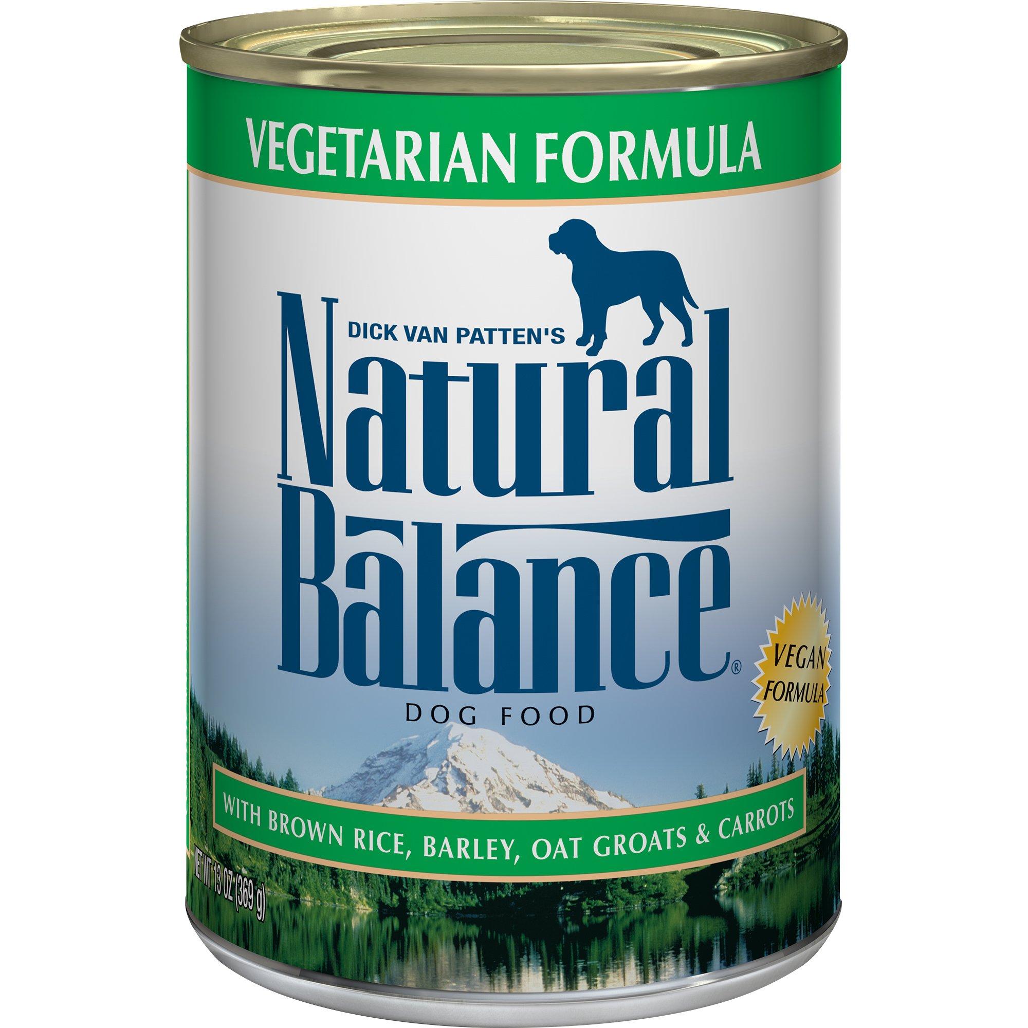 Natural Balance Vegetarian Formula with Brown Rice, Barley, Oat Groats & Carrots Wet Dog Food, 13 Ounces (Pack of 12), Vegan by Natural Balance