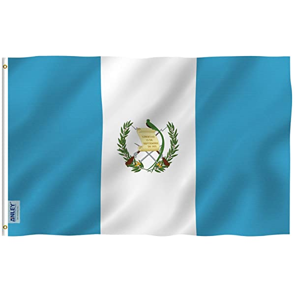 Anley Fly Breeze 3x5 Foot Guatemala Flag - Vivid Color and UV Fade Resistant - Canvas Header and Double Stitched - Guatemalan Country Flags Polyester with Brass Grommets 3 X 5 Ft (Color: Guatemala, Tamaño: 3 X 5 Ft)