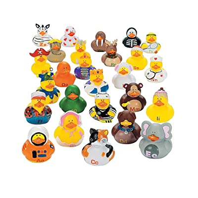 Fun Express Abc's Rubber Duckies - 26 Pieces - Educational and Learning Activities for Kids: Home & Kitchen