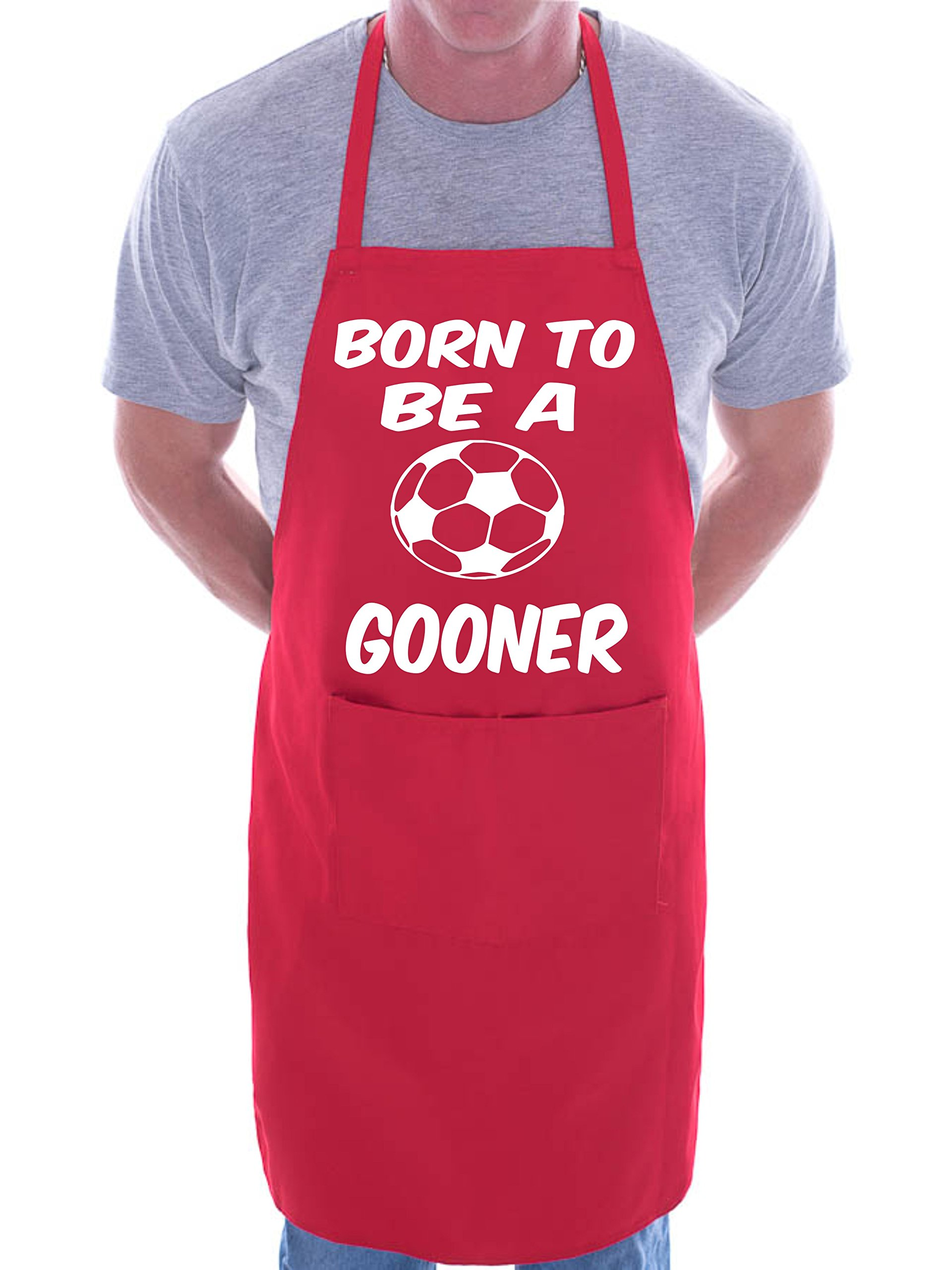 Arsenal Born To Be Gooner BBQ Cooking Funny Novelty Apron Red, One size