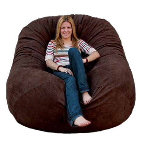 Cozy Sack 6 Feet Bean Bag Chair Large Chocolate