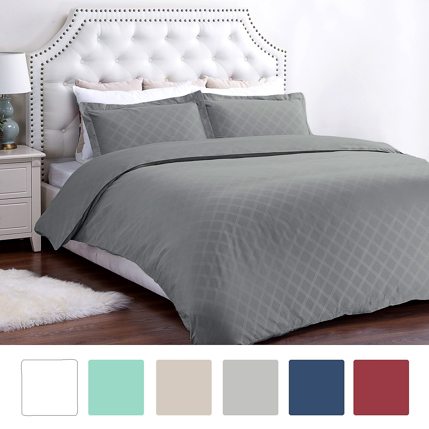 Bedsure Holloway 3 Piece Duvet Cover Set