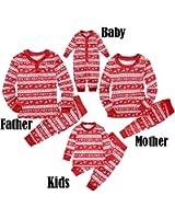 Ant-Kinds Dad Mom Kids Baby Family Matching Xmas Pajamas Sleepwear Homewear Set