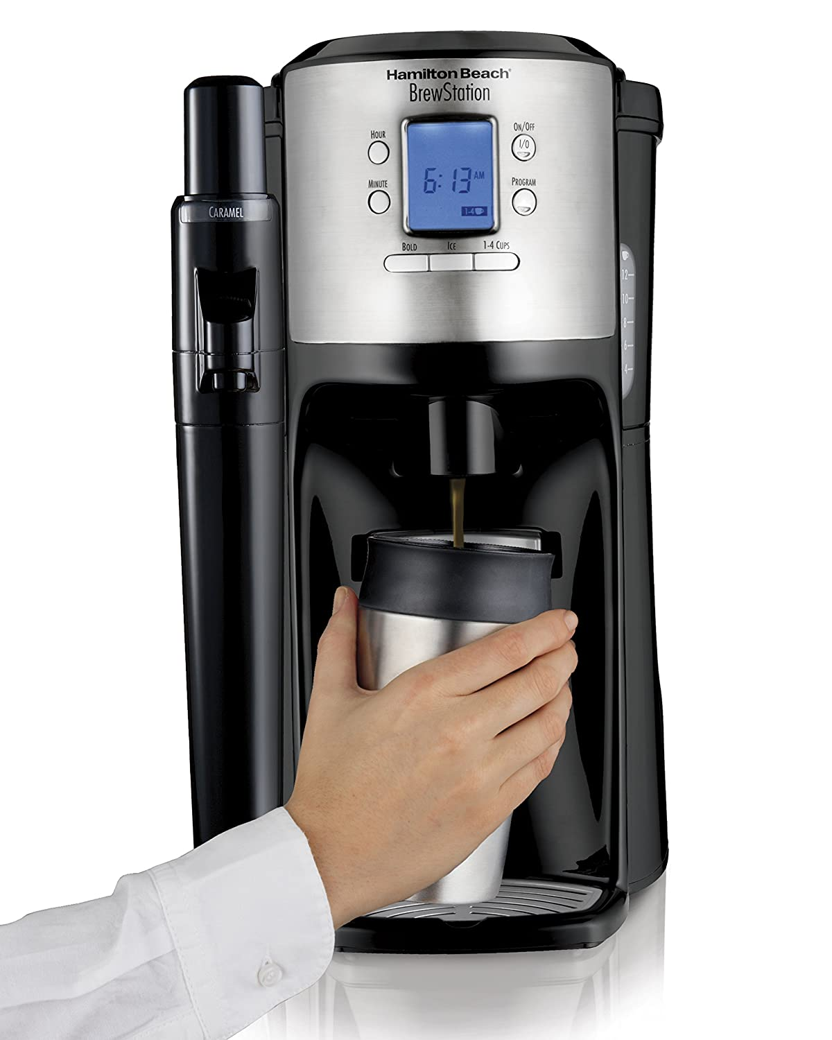 Hamilton Beach 49150 BrewStation with Flavor Dispenser Coffee Maker, Black