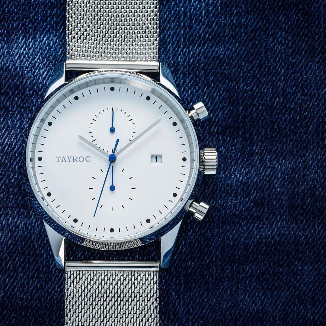 Reloj hombre RELOJ tayroc Boundless Silver Classic cronógrafo acero inoxidable cuarzo reloj de pulsera txm089: Amazon.es: Relojes