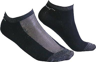 Tiglami Trazo Brillante – Calcetines de mujer negros y grises con ...