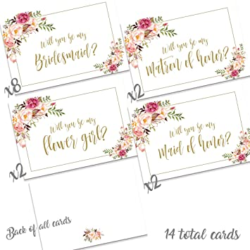 Amazon 14 Wedding Party Proposal Notes White Office Products