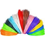 7TECH 240 Linear Feet 3D Pen Filament 1.75mm ABS 100 Stencils E book 12 Colors with Glow In The Dark