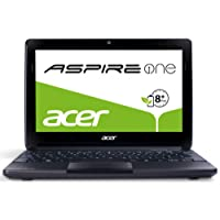 Acer Aspire One D270 25,7 cm (10,1 Zoll, matt) Netbook (Intel Atom N2600, 1,6GHz, 2GB RAM, 320GB HDD, ohne Betriebssystem, 8h Akkulaufzeit ) schwarz