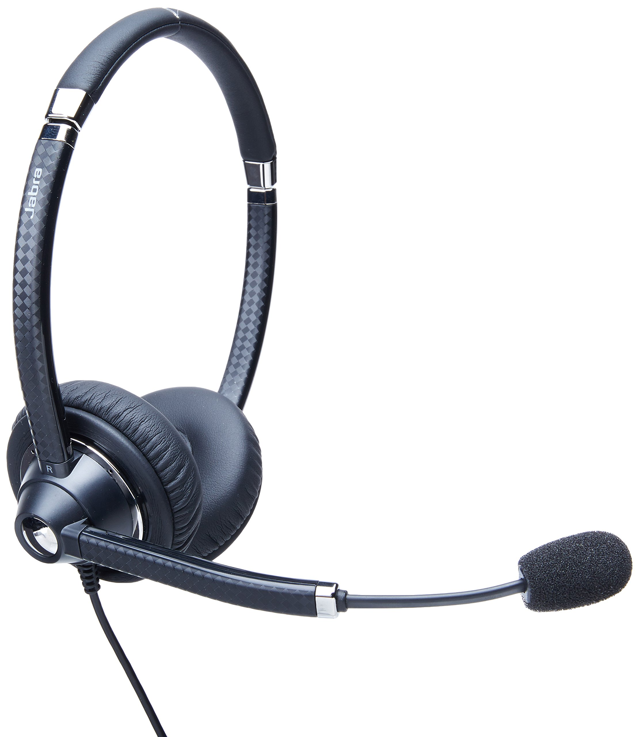 Jabra UC VOICE 750 Duo (Dark) Corded Headset for Softphone