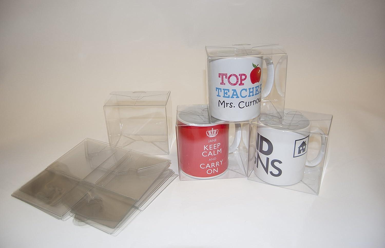 Cajas de regalo de acetato, diseño x 50 - adecuado para tazas, regalos pequeños, joyas: Amazon.es: Oficina y papelería