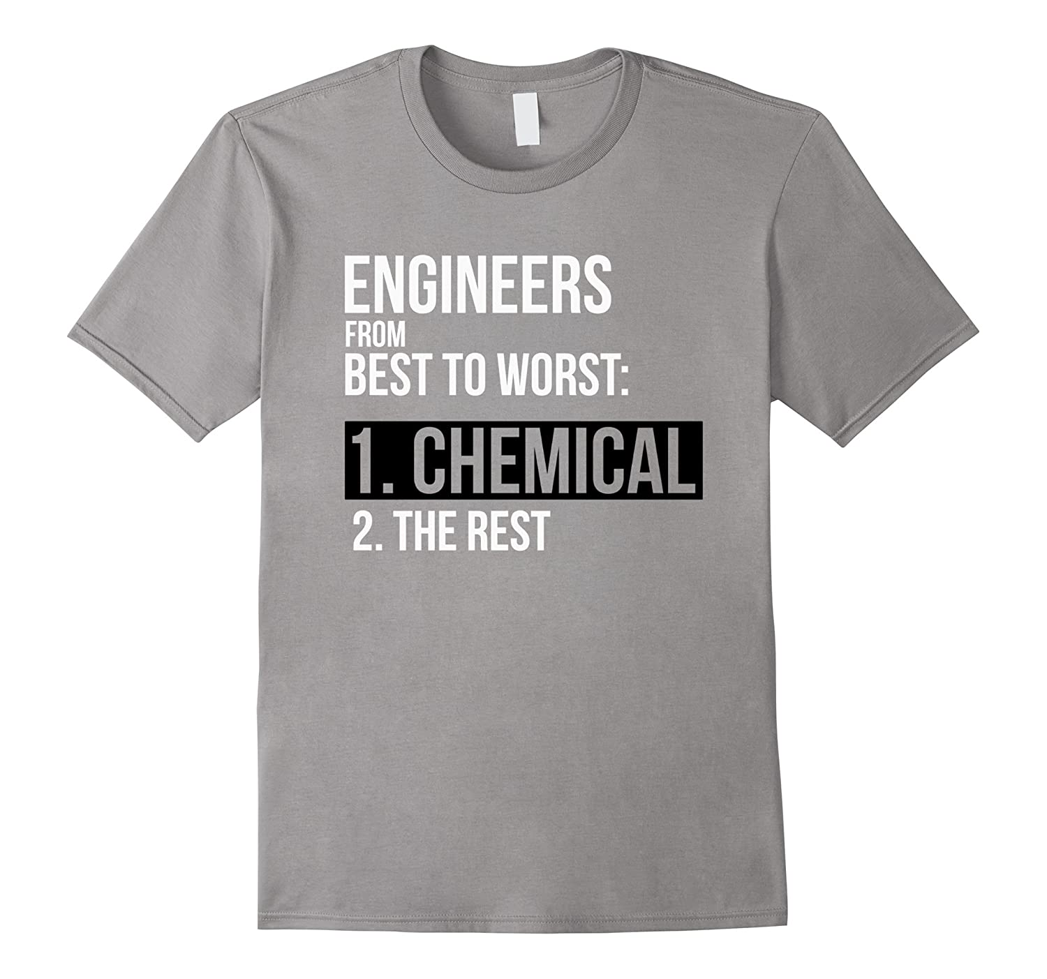 Engineers From Best to Worst Chemical Engineer Funny T-Shirt-Best ...