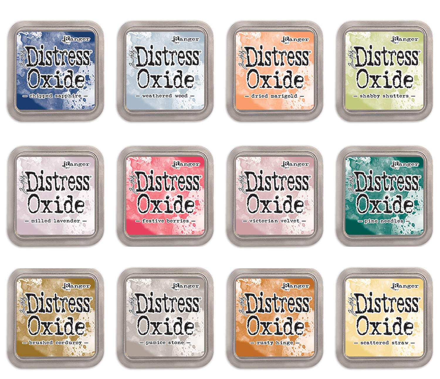Ranger Tim Holtz Distress Oxide Ink Fall 2018 (Release 5) - 12 Ink Pad Bundle
