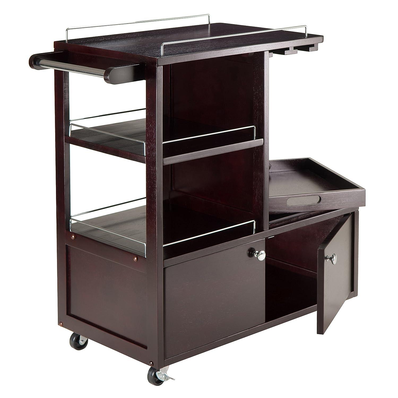 Amazon.com   Winsome Wood Galen Entertainment Cart   Bar U0026 Serving Carts