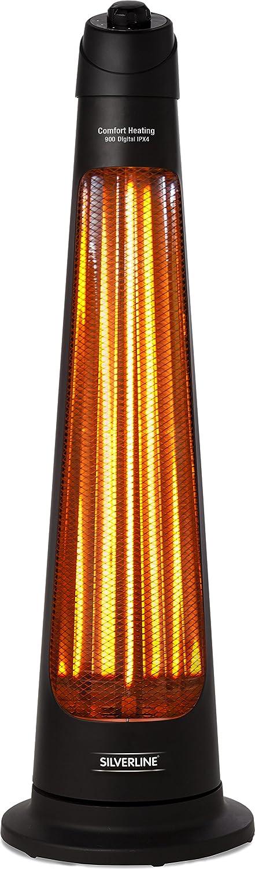 SILVERLINE S-26153 Chauffage de Terrasse /électrique 900 W IPX4 Noir