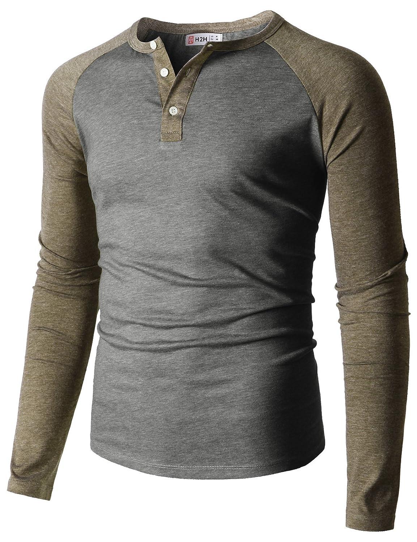 【H2H】ベーシック メンズ カジュアル ファッション オシャレ カラー ヘンリーネック 七分袖 ティーシャツ CMTTS0174 B07CR92L9B XX-Large|Cmttl0108-graybeige Cmttl0108-graybeige XX-Large