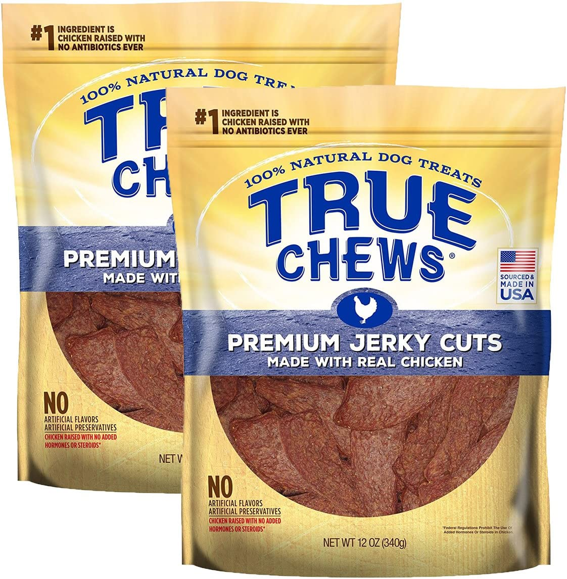 Tyson Pet True Chews. Premium Jerky Cuts Made with Real Chicken 2-Pack .