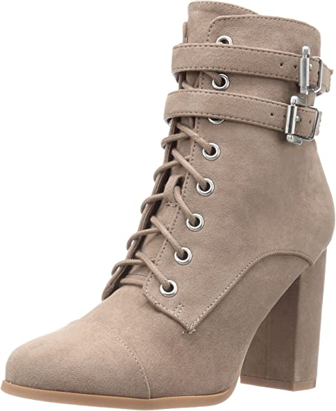 e6ab56d358fc Madden Girl Women s Klaim Ankle Bootie Taupe Fabric 6.5 ...