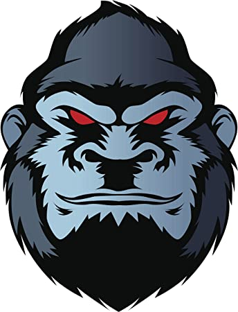 Halloween evil horror scary angry red eyed gorilla cartoon vinyl decal sticker 2