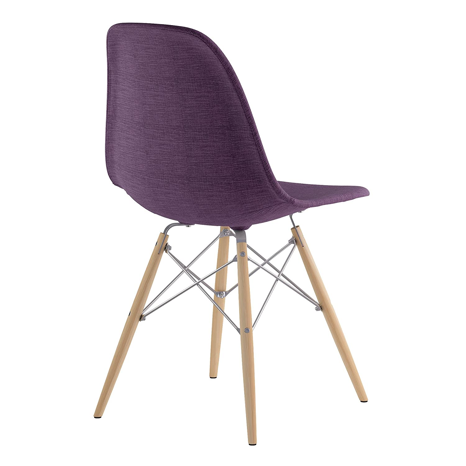 Plum Purple NyeKoncept 331005EW1 Mid Century Dowel Side Chair