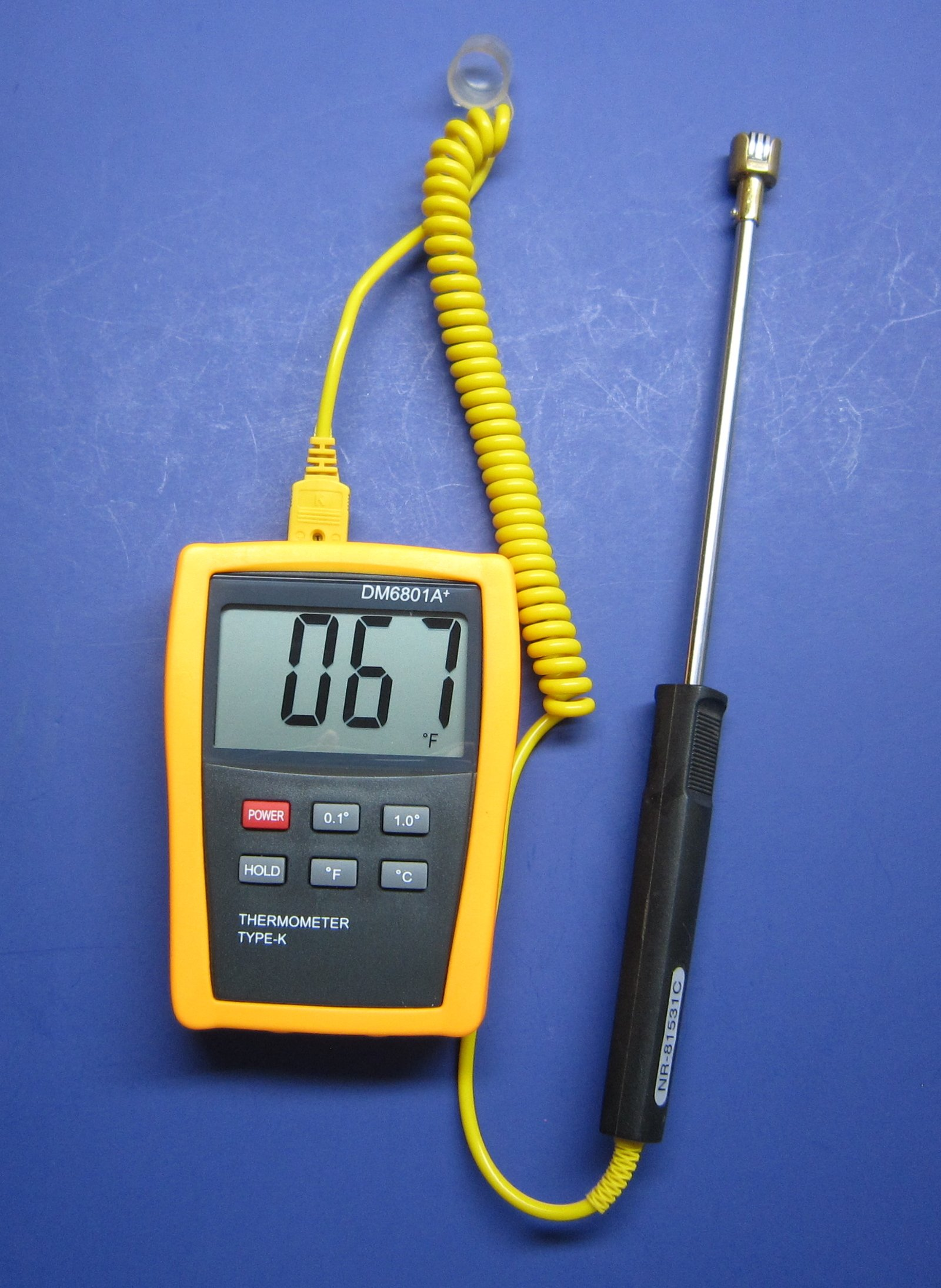 Digital Welding and Metalworking Thermometer with K-type Surface Thermocouple