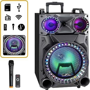 Befree Sound Altavoz Portátil De 12 Pulgadas Con Bluetooth Con Luces De Fiesta Radio Fm Y Entradas Usb Tf Electronics