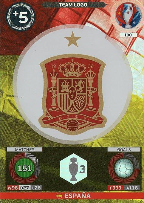 Panini Adrenalyn XL UEFA Euro 2016 Espana Team Logo Card by Adrenalyn XL: Amazon.es: Deportes y aire libre