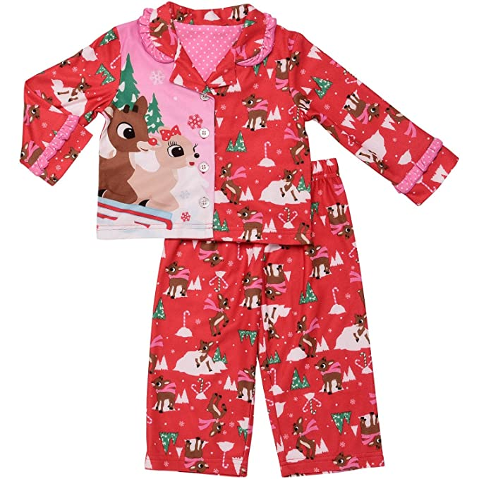Image Unavailable. Image not available for. Color  Baby Girls Rudolph The Red  Nosed Reindeer   Clarice Flannel Pajamas ... 63877b471