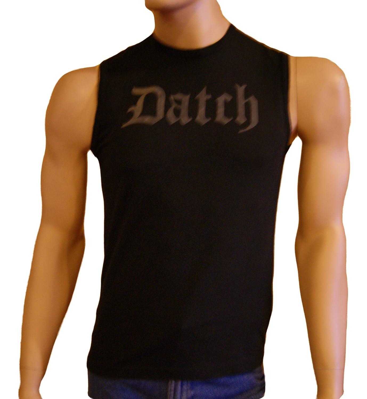 "Datch. Mens Black Vest Sleeveless T Shirt Size S/UK 38"" Chest"