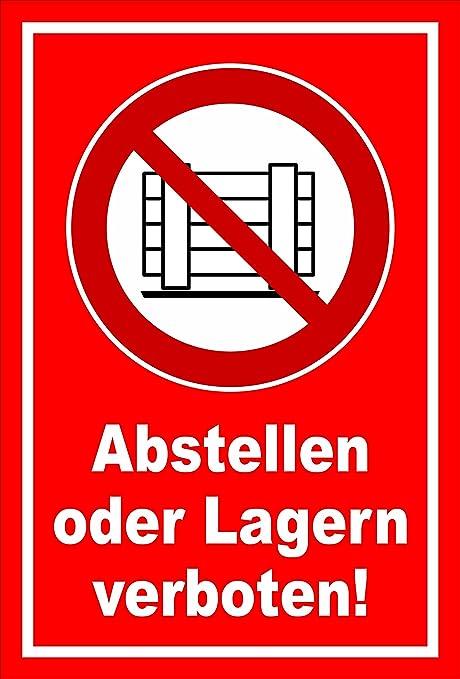 Schild Abstellen Oder Lagern Verboten Entspr Din Iso 7010 Asr