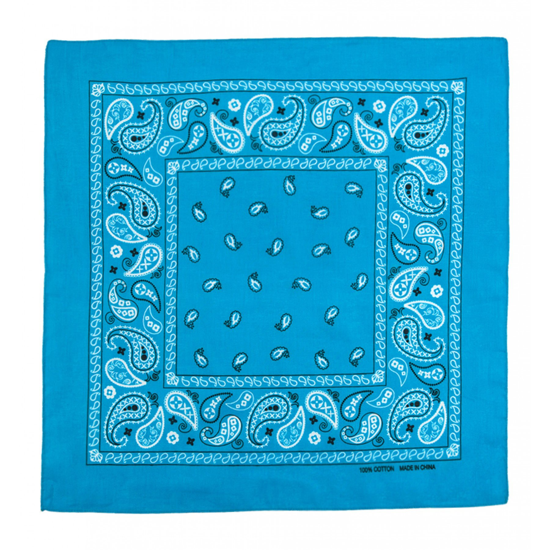 2ND DATE Classic Cotton Bandana - Assorted Styles and Colors-TURQ-OS