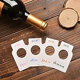 Étiquettes de bouteille de vin de livre blanc - 200 étiquettes de cellier de papier de papier de plaine de compte