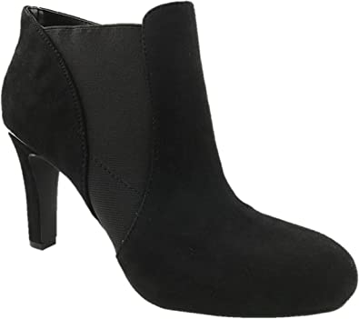 Tahari - Botas de tobillo de piel de ante para mujer, con tacón de ...