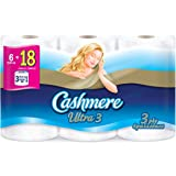 Cashmere Ultra 3 ply Soft & Thick Toilet Paper, Hypoallergenic and Septic Safe, 6 Triple Rolls = 18 Single Rolls