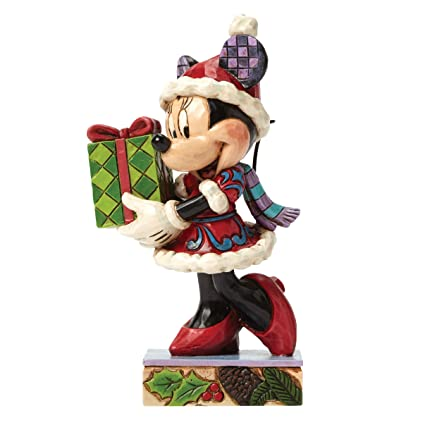 jim shore for enesco disney traditions by christmas minnie figurine 45