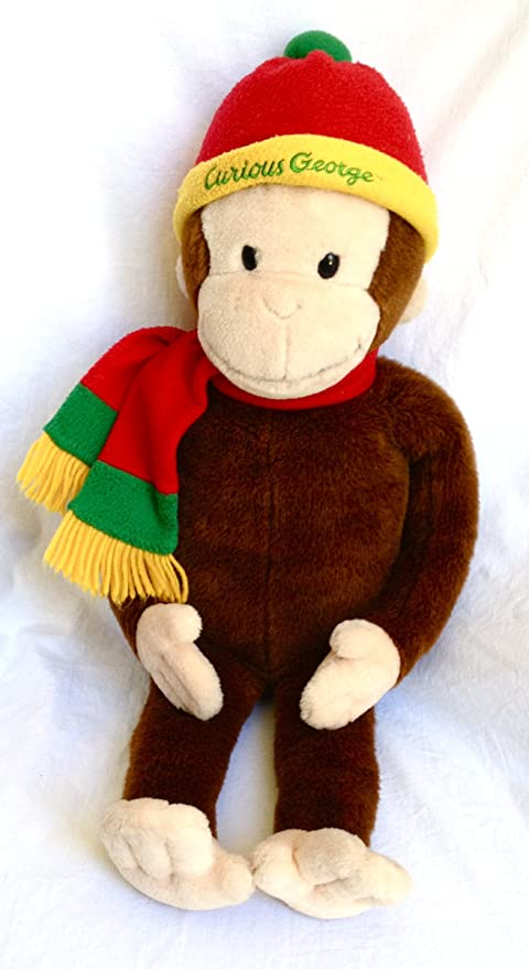 Macys Limited Edition Curious George Plush Doll with Book Curious George in the Big City