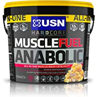 USN Muscle Fuel Anabolic Muscle Gain Shake Powder, Caramel Popcorn, 4 kg